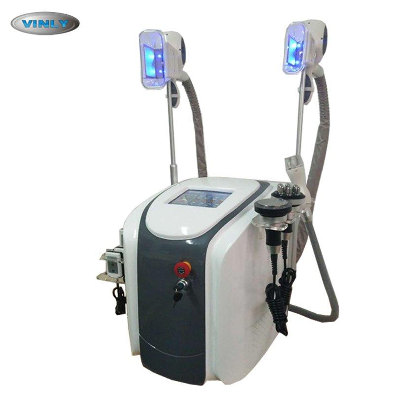 Portable two cryo handle lipolaser cavitation rf cryolipolysis slimming machine  VL-35C