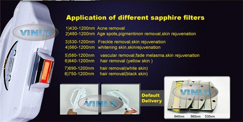 Hot ipl light hair removal rejuvenation hair skin Vinly Brand
