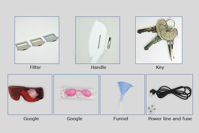 Portable Elight IPL hair removal machine VL-020-6