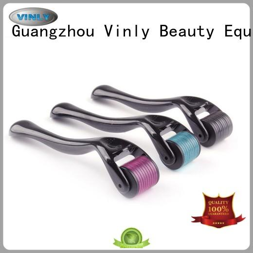 Vinly easy to use derma roller at home colorful for scar removal